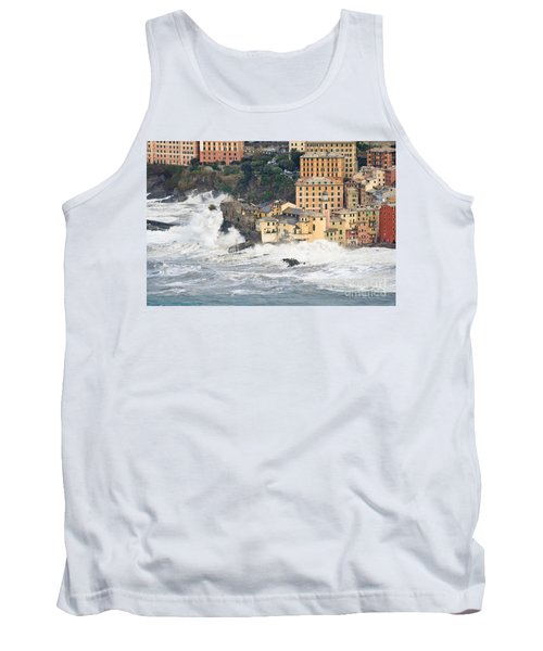 Tank Top featuring the photograph Sea Storm In Camogli - Italy by Antonio Scarpi