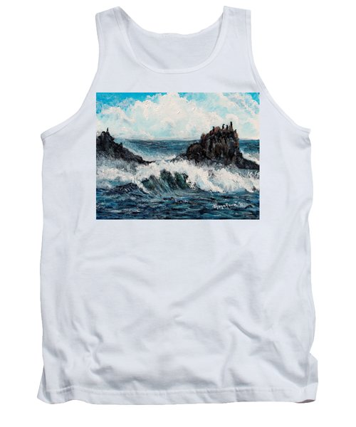 Tank Top featuring the painting Sea Whisper by Shana Rowe Jackson