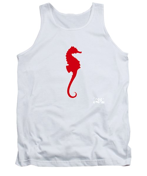 Seahorse In Red Tank Top