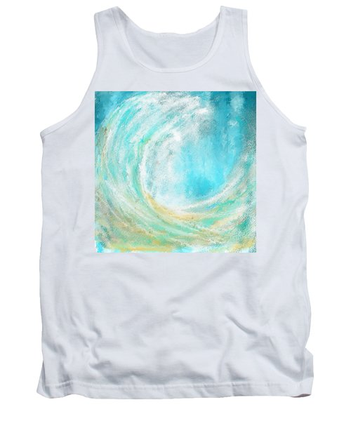 Seascapes Abstract Art - Mesmerized Tank Top