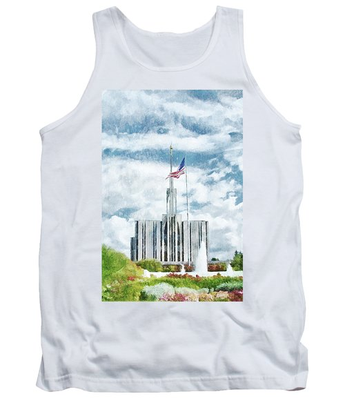 Tank Top featuring the painting Seattle Temple 1 by Greg Collins