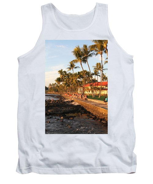 Seawall At Sunset Tank Top by Denise Bird