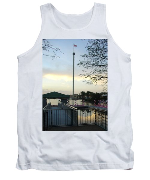 Tank Top featuring the photograph Seaworld Skytower by David Nicholls