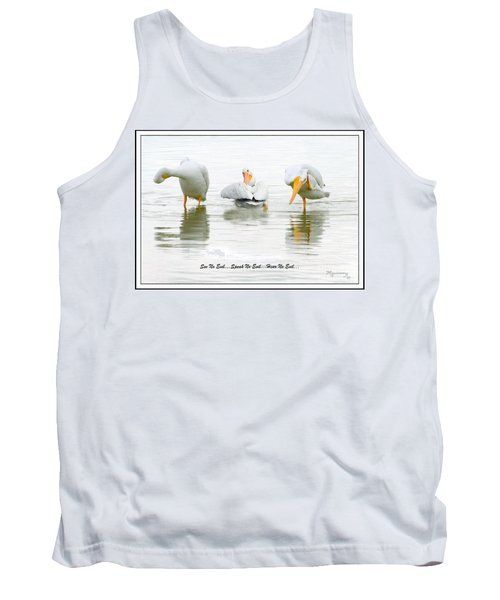 Tank Top featuring the photograph See No Evil...speak No Evil... Hear No Evil by Mariarosa Rockefeller