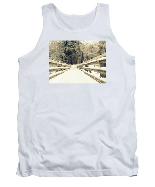 Sepia Winter Land Tank Top by France Laliberte
