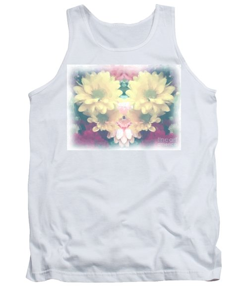 Tank Top featuring the photograph Serene Zinnias by Luther Fine Art