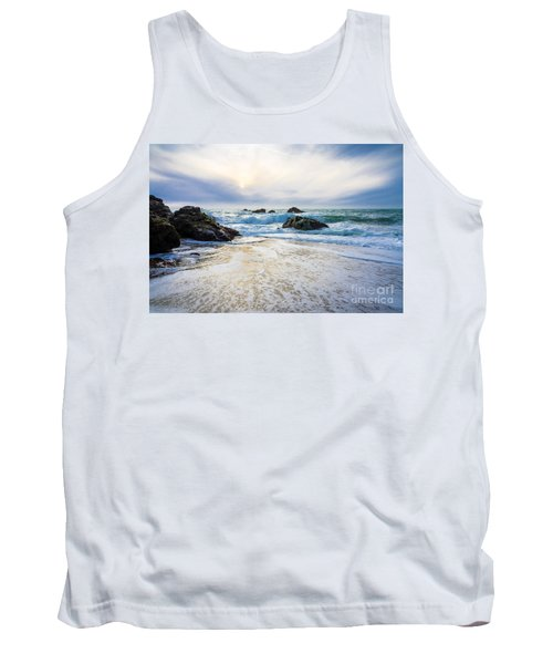 Tank Top featuring the photograph Setting Sun And Rising Tide by CML Brown
