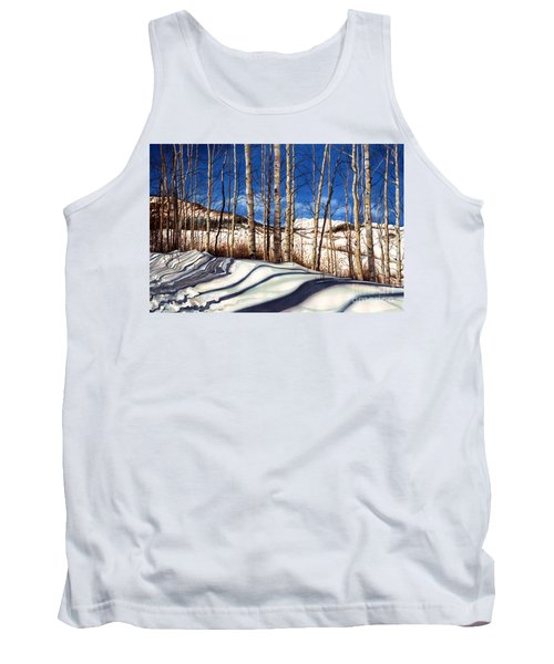 Tank Top featuring the painting Shadow Dance by Barbara Jewell