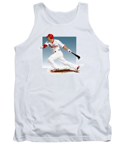 Tank Top featuring the digital art Shane Victorino by Scott Weigner