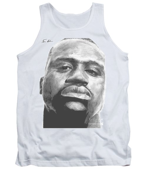Tank Top featuring the drawing Shaq by Tamir Barkan