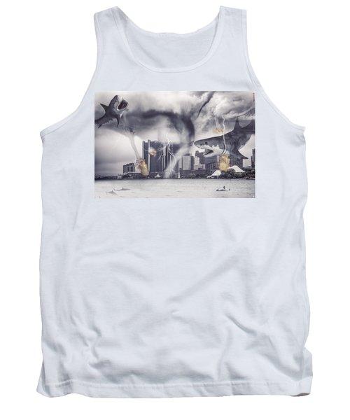 Tank Top featuring the photograph Sharknado Detroit by Nicholas  Grunas