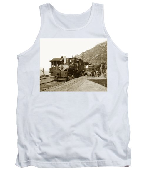 Tank Top featuring the photograph Shay No. 498 At The Summit Of Mt. Tamalpais Marin Co California Circa 1902 by California Views Mr Pat Hathaway Archives