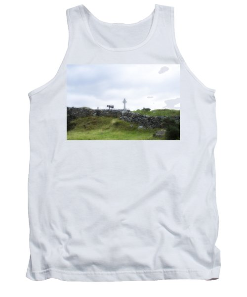 Sheep And Cross Tank Top by Hugh Smith