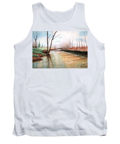 Tank Top featuring the pastel Shelby Stream by Stacy C Bottoms