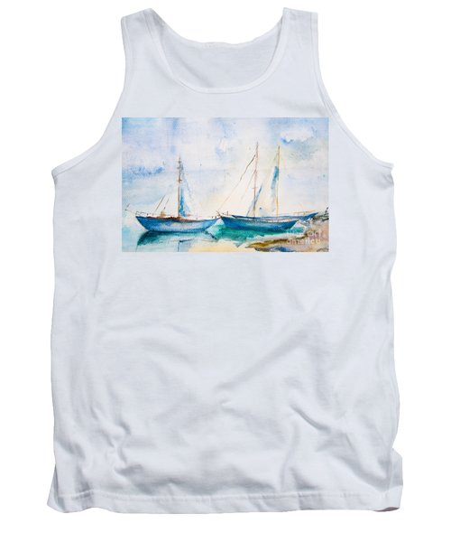 Ships In The Sea Tank Top