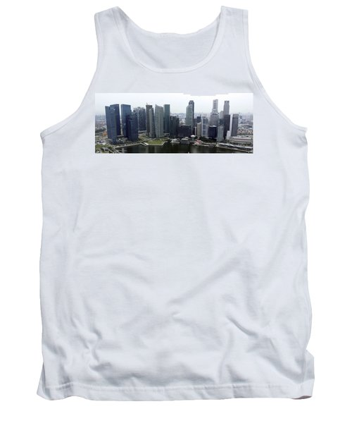 Tank Top featuring the photograph Singapore Skyline by Shoal Hollingsworth