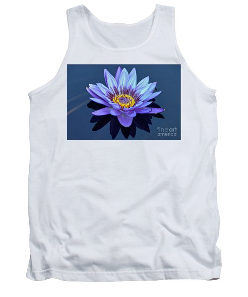 Single Lavender Water Lily Tank Top