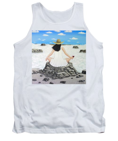 Sippin' On Top Of The World Tank Top by Lance Headlee
