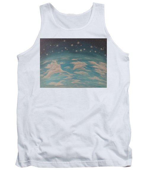 Tank Top featuring the painting Sitting On Top Of The World by Thomasina Durkay