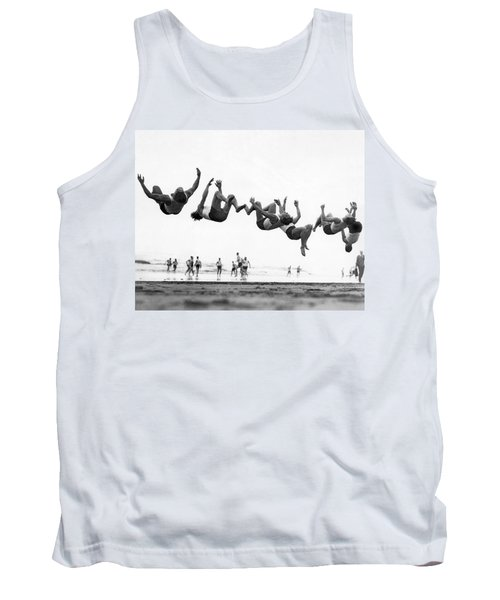 Six Men Doing Beach Flips Tank Top