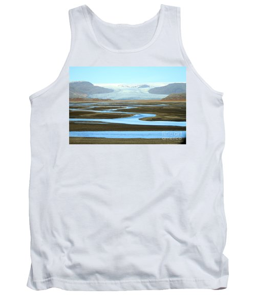 Skaftafell Glacier Tank Top by Paula Guttilla