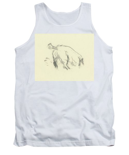 Sketch Of A Dog Digging A Hole Tank Top