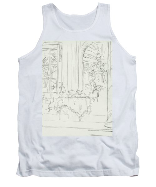 Sketch Of A Formal Dining Room Tank Top