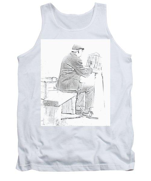 Sketch Of Old Man Painting  Alberta Tank Top