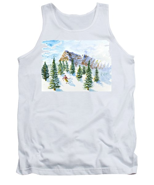 Skier In The Trees Tank Top