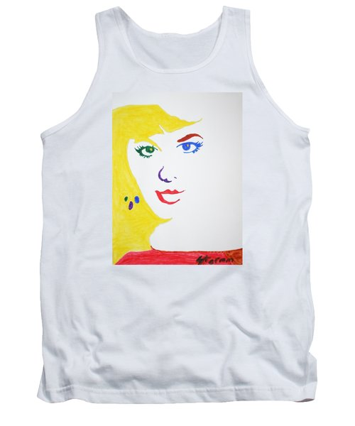 Tank Top featuring the painting Blonde Mother Nature by Stormm Bradshaw