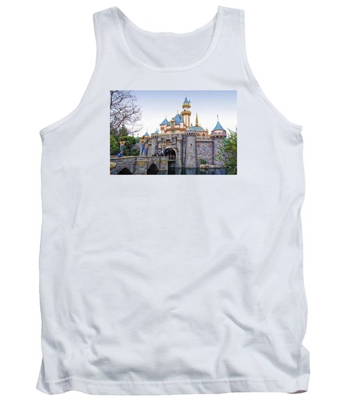 Sleeping Beauty Castle Disneyland Side View Tank Top by Thomas Woolworth