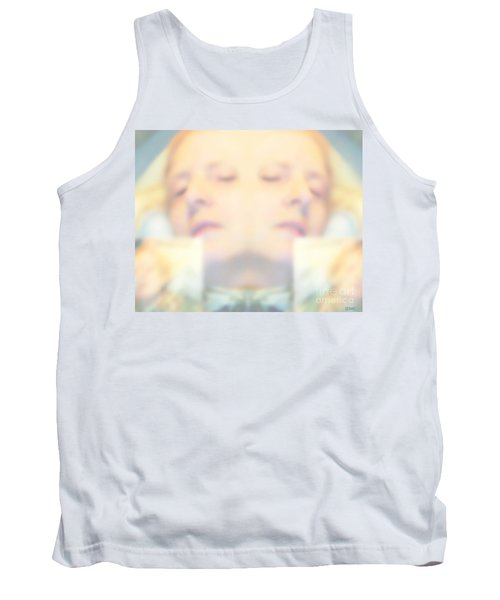 Tank Top featuring the photograph Sleeping Woman Drifting In Dreams by Marian Cates
