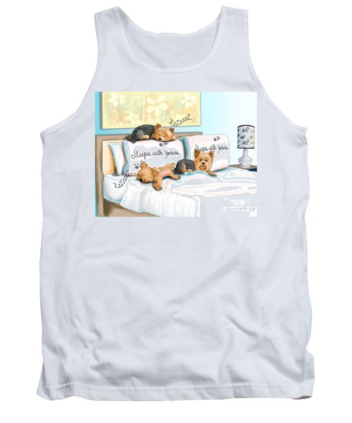 Sleeps With Yorkies Tank Top