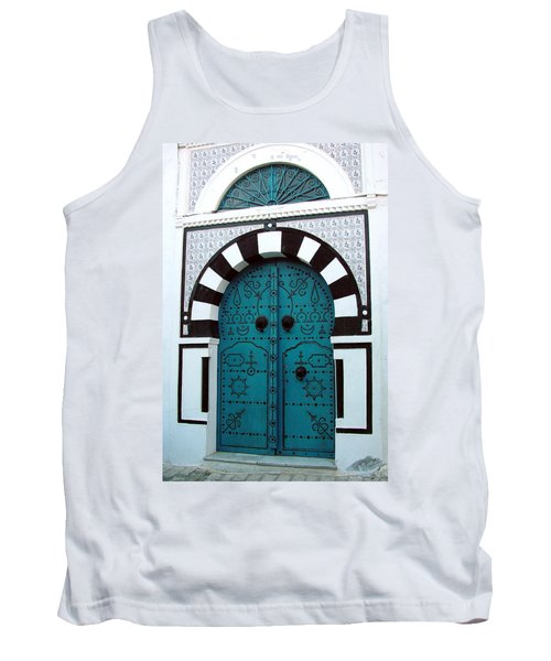 Tank Top featuring the photograph Smiling Moon Door by Donna Corless