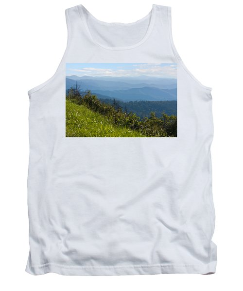 Smoky Mountains View Tank Top by Melinda Fawver