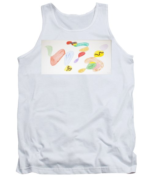 Tank Top featuring the painting Baby Snakes by Stormm Bradshaw
