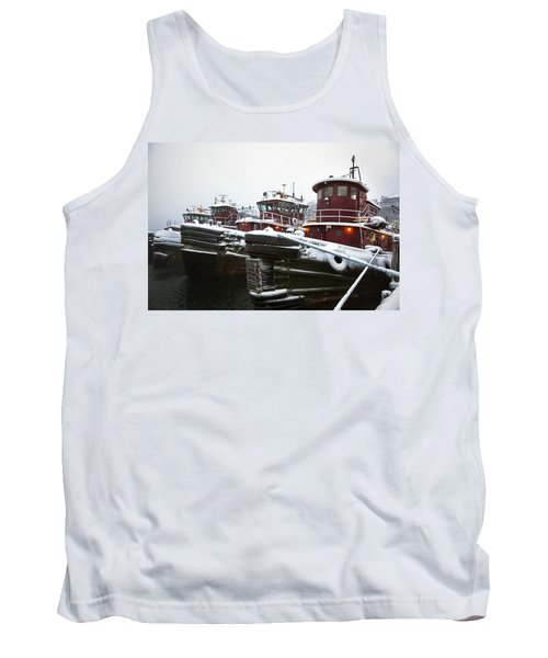 Snow Covered Tugboats Tank Top