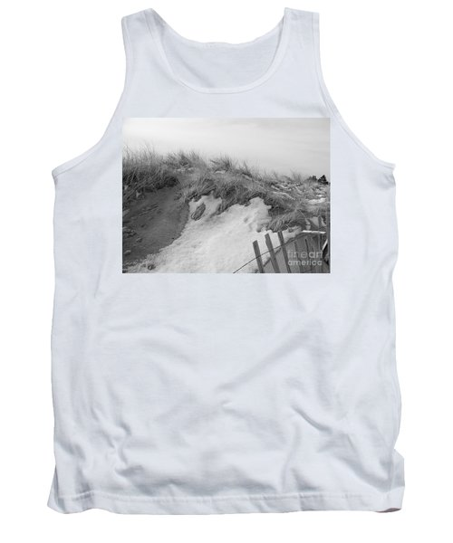 Tank Top featuring the photograph Snow Covered Sand Dunes by Eunice Miller