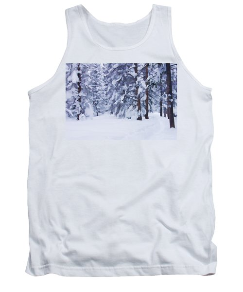 Snow-dappled Woods Tank Top