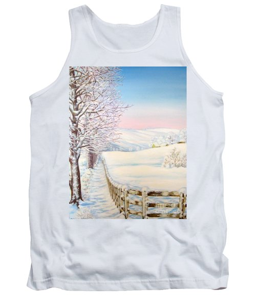 Snow Path Tank Top by Inese Poga