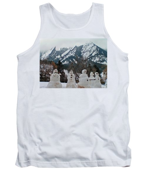 Flatiron Snowmen. Tank Top