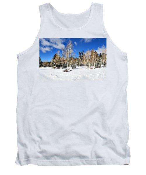 Snowy Aspen Grove Tank Top