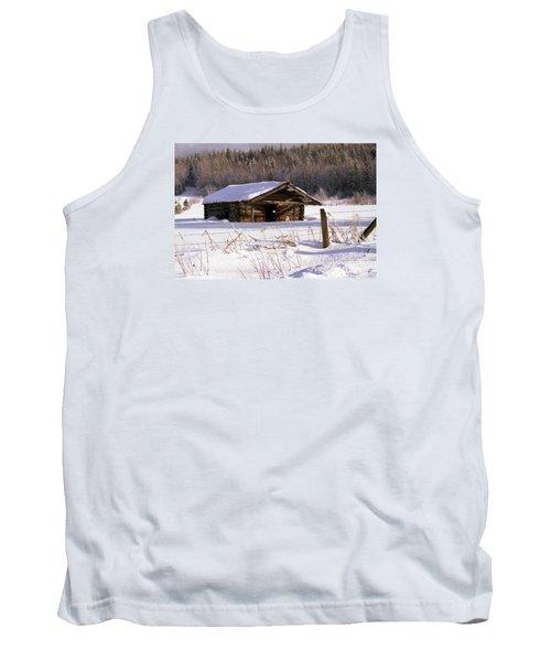 Snowy Cabin Tank Top
