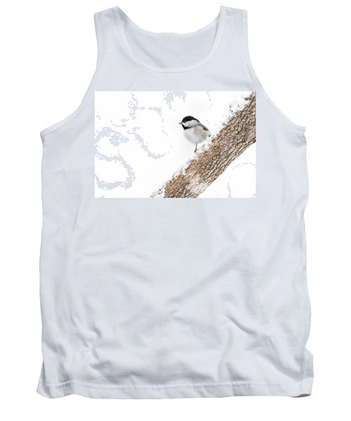 Snowy Chickadee Tank Top