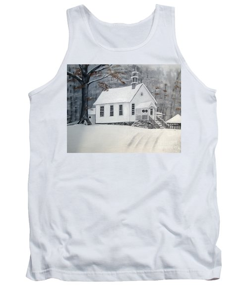 Snowy Gates Chapel  -little White Church - Ellijay Tank Top