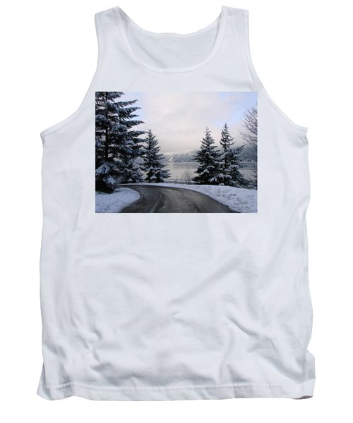 Tank Top featuring the photograph Snowy Gorge by Athena Mckinzie