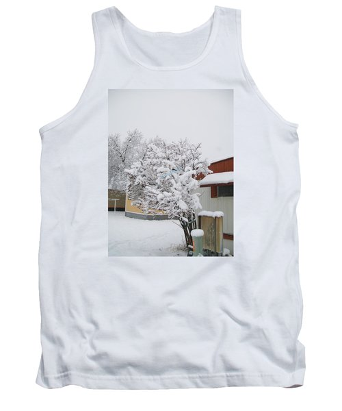Tank Top featuring the photograph Snowy Lilac by Jewel Hengen