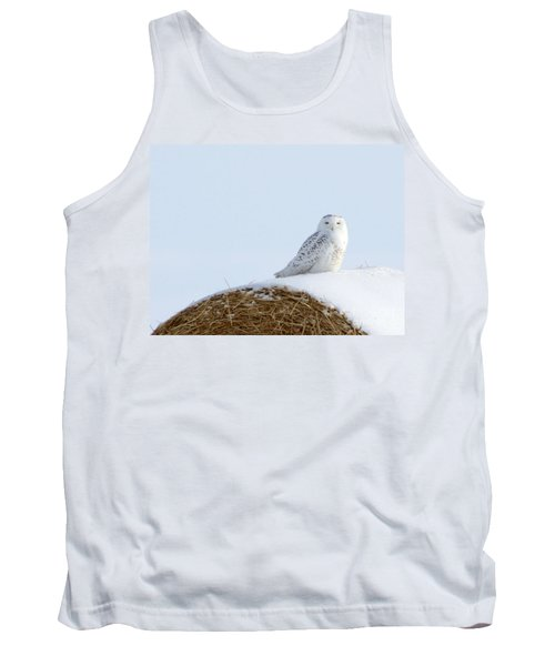 Tank Top featuring the photograph Snowy Owl by Alyce Taylor
