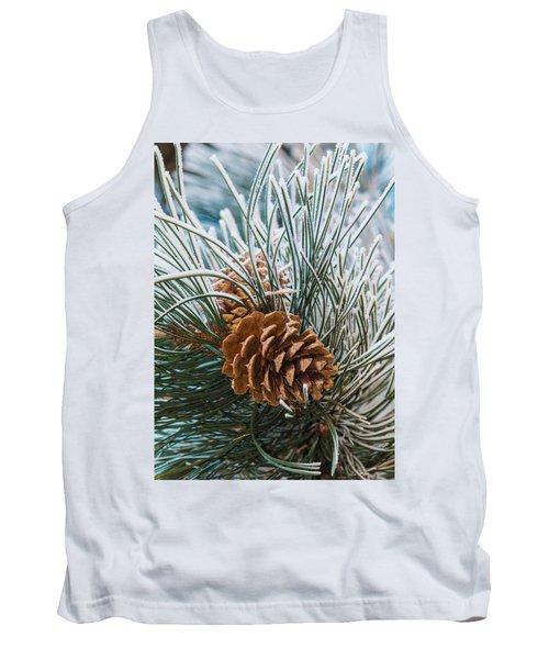 Snowy Pine Cones Tank Top