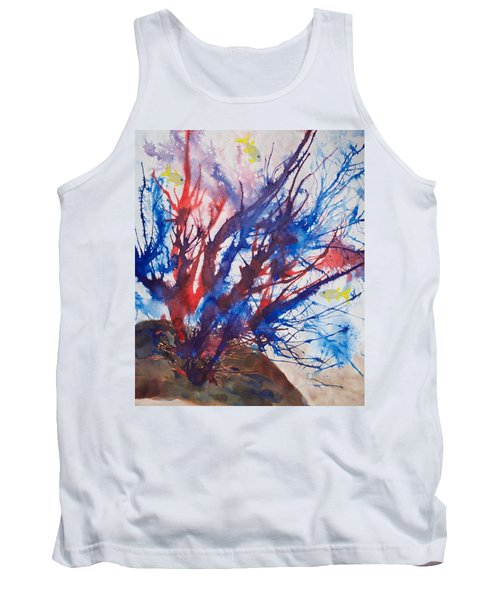 Soft Coral Splatter Tank Top by Patricia Beebe